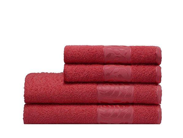 Toalha Donna de Rosto 45X70 Vermelho Camesa