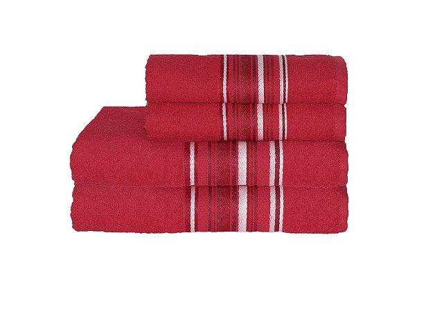 Toalha Vegas Color de Rosto 45X70 Vermelho