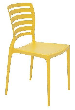 Cadeira Sofia Amarela Horizontal Tramontina 92237/000
