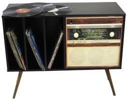 Armário Horizontal com 1 Porta Estampa Rádio para Discos Vinil (0278-0704)