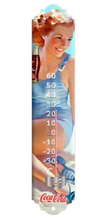 Termômetro de Metal Coca-Cola Pin Up in the Beach (26648)