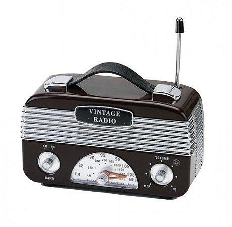 Rádio AM/FM Vintage Retrô Marrom