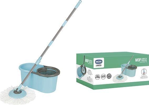 Balde Mop Limpeza Pratica com Esfregão + 1 Refil