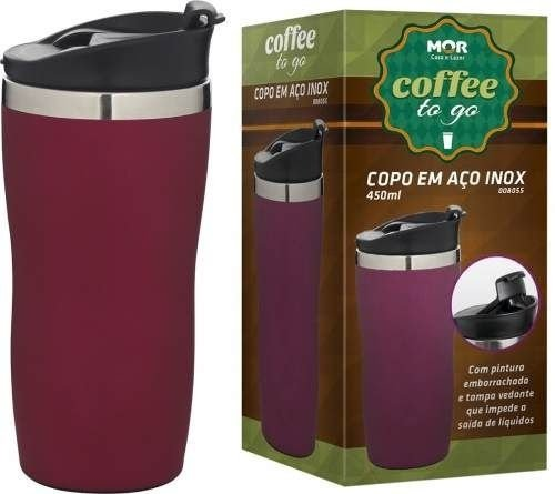 Copo Térmico Coffee To Go 450ml Rosa