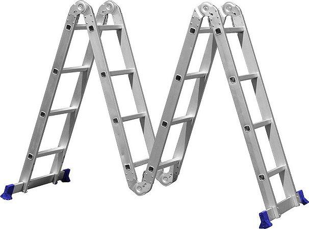 Escada Multifuncional 4x4 com 16 Degraus - MOR