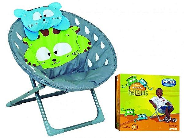 Cadeira Lua Dobrável Infantil Gatoons