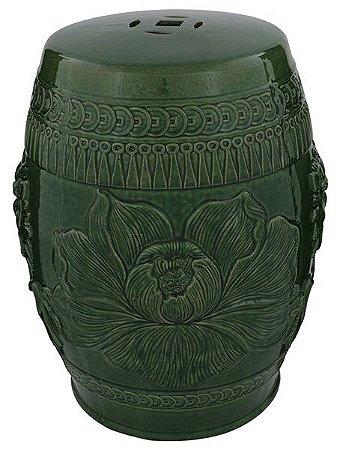 Banqueta Seat Garden Cerâmica Lotus Verde