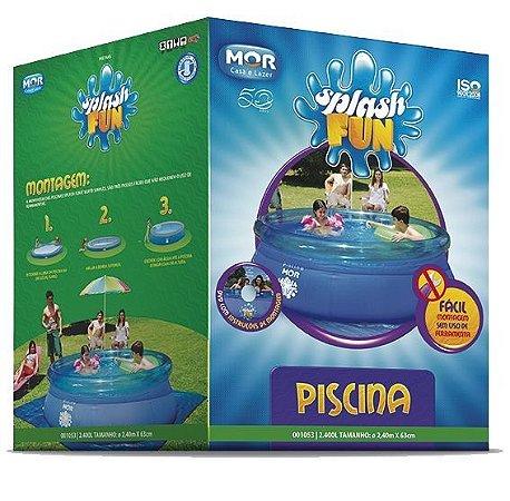 Piscina Redonda 2.400l Inflavel Splash Fun Mor 2,40x0,63