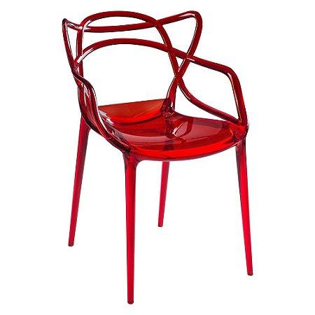 Cadeira Allegra Vermelho Translúcido