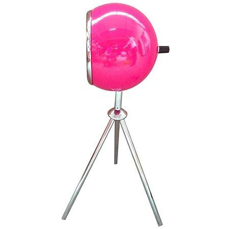 Luminária Metal Mesa Tripe Bebop Pink Brilhante (26679)