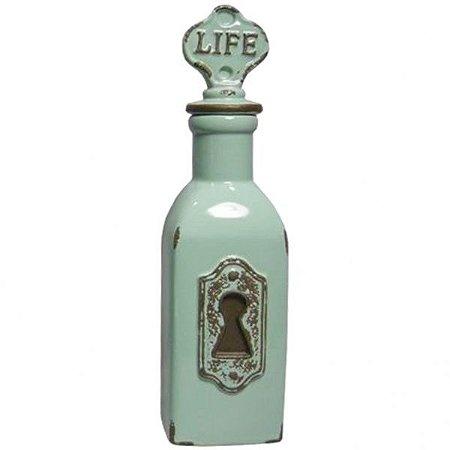 Garrafa Decorativa Ceramica Le Cle Life Verde (25785)