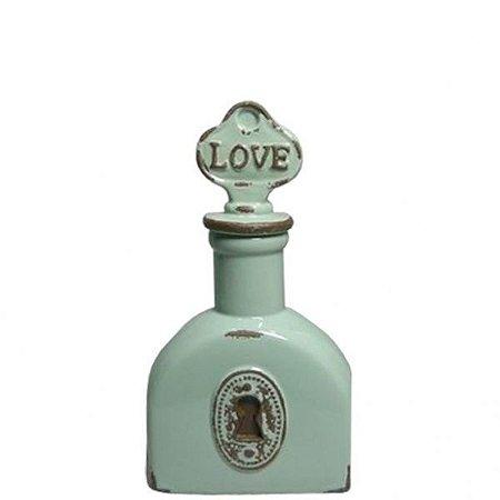 Garrafa Decorativa Ceramic Le Cle Love Verde (25788)