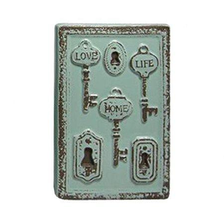 Vaso Ceramica Le Cle Tree Keys Pequeno Verde