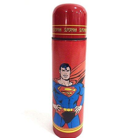 Garrafa Térmica Aço Inox DC Comics Superman Vermelha (27782)