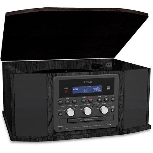 Vitrola Retrô Toca Discos Teac Gf-550 Com Gravador Fm, K7, CD, Usb