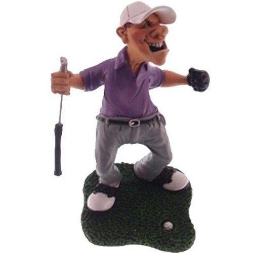 Caricatura Jogador Golf Vencedor