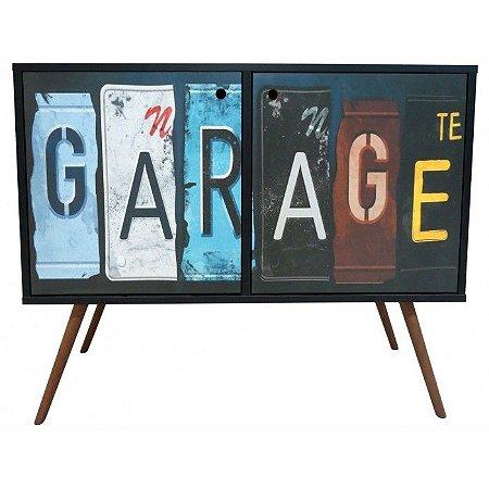 Armário Horizontal com 2 Portas Estampa Garage  (0118-0900)