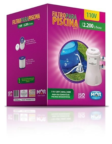 Filtro para Piscina Vazão 2.200L/h - 110V