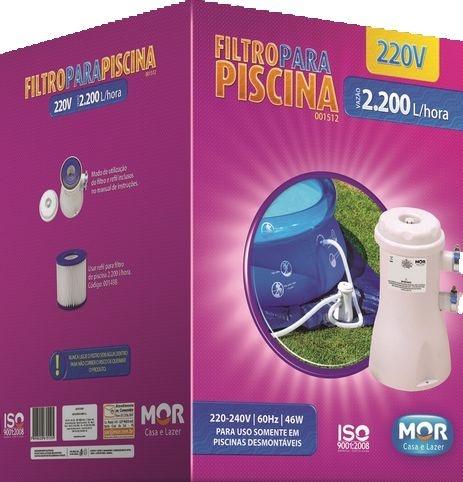 Filtro para Piscina Vazão 2.200L/h - 220V