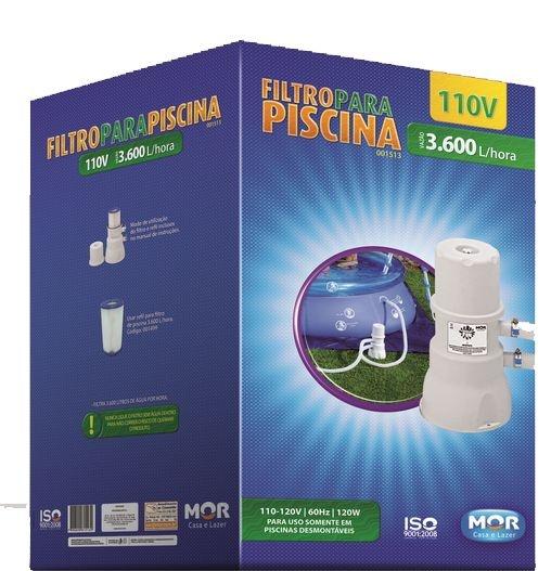 Filtro para Piscina Vazão 3.600l/h - 110V