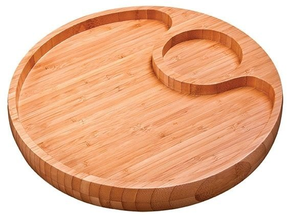 Gamela com 2 Divisória Bamboo