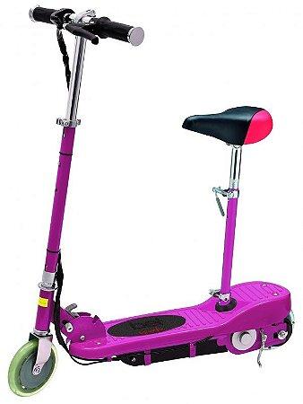 Patinete Elétrico Bel Sports Rosa com Assento - E-Scooter