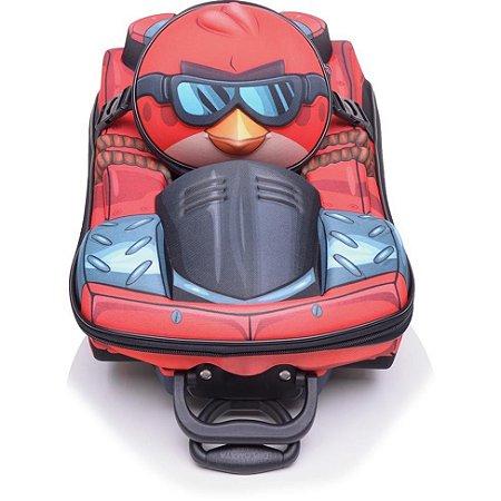 Mochila Escolar de Rodinhas 3D Angry Birds GO + Lancheira