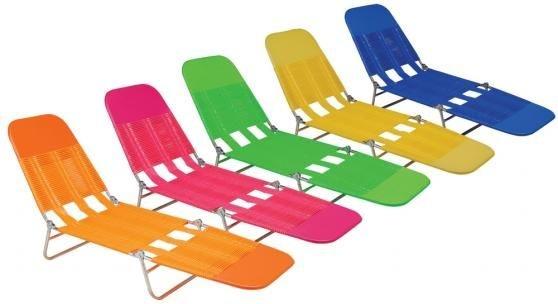 Cadeira Espreguiçadeira Dobrável em PVC