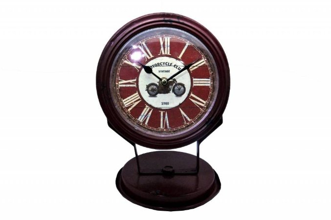 Relógio de Mesa Retrô Vintage Vermelho (RE475)
