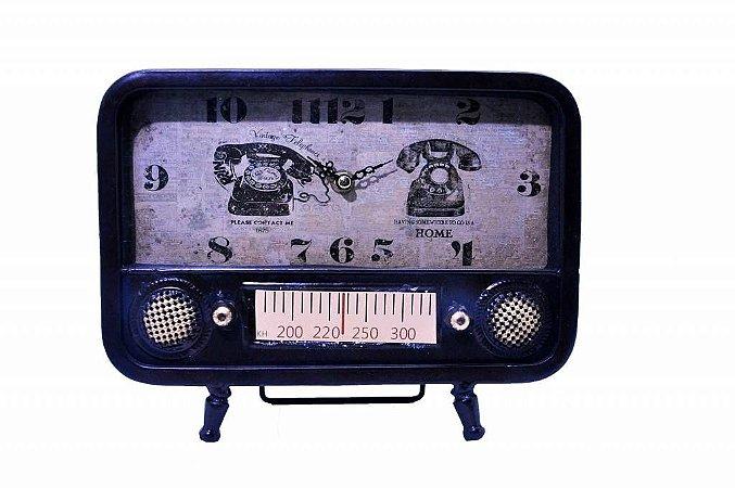 Relógio de Mesa Retrô Rádio Antigo (RE591)