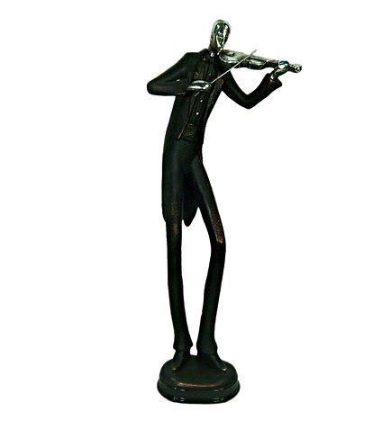 Estatueta Decorativa de Resina Músico Tocando Violino (1385)