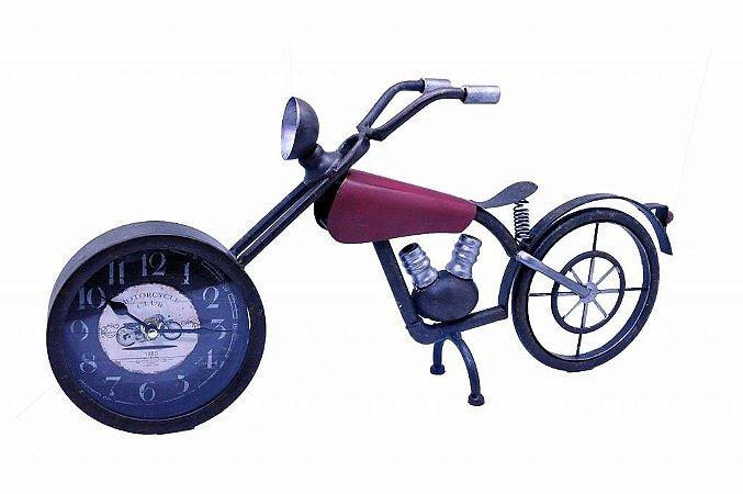 Relógio Decorativo de Mesa Moto (RE509)