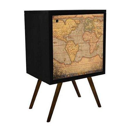 Armário com 1 Porta Estampa Mapa  (0119-0083)
