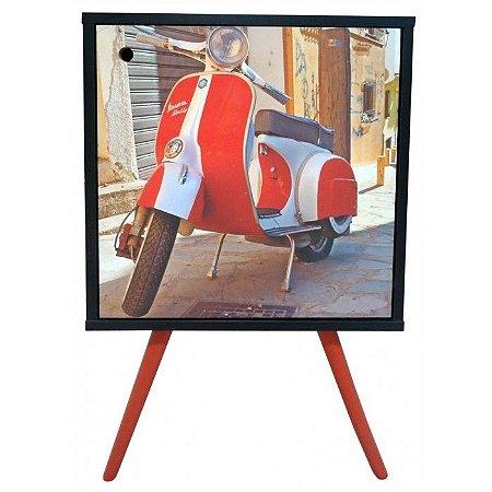 Armário com 1 Porta Estampa Vespa Vermelha  (0119-0897)
