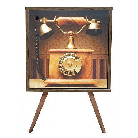 Armário com 1 Porta Estampa Telefone Antigo (0119-0895)