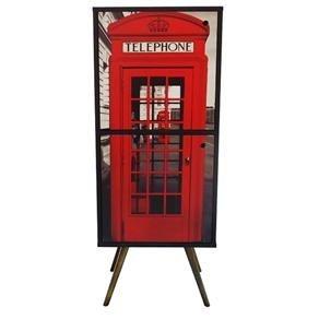 Armário Vertical com 2 Portas Estampa Telephone (0219-0682)