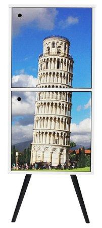 Armário Vertical com 2 Portas Estampa Torre de Pisa  (0219-0736)