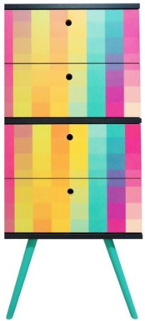 Gaveteiro Vertical com 4 Gavetas Estampa Color (0348-0817)