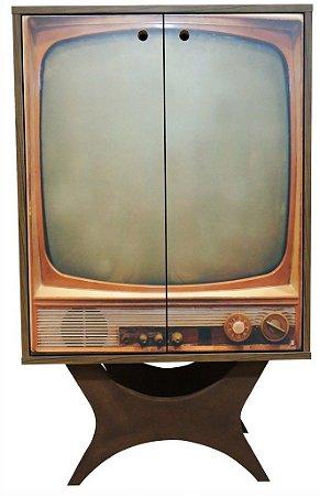 Armário Multiuso com 2 Portas Estampa Televisão (0349-0850)