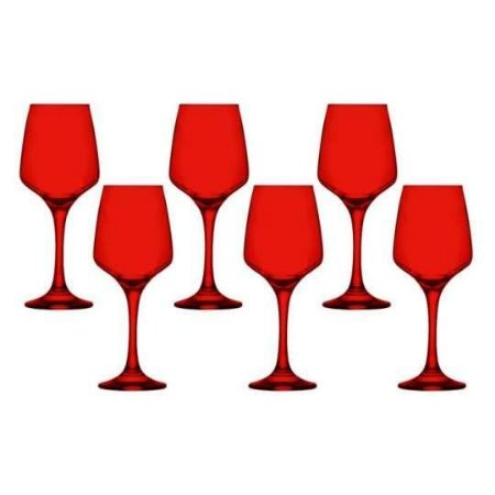 Jogo de Taças Lal Red para Água e/ou Vinho 330ml 6 Peças