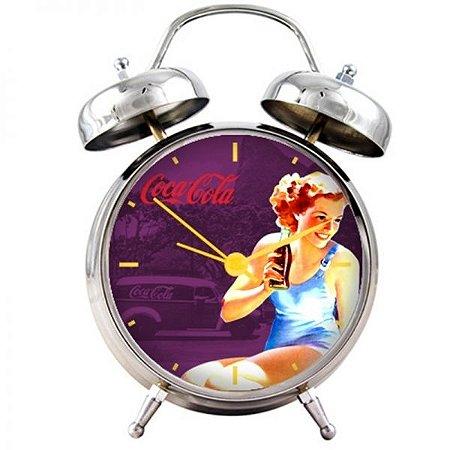 Relógio de Mesa Coca-Cola Pin Up Brown Lady (25090)