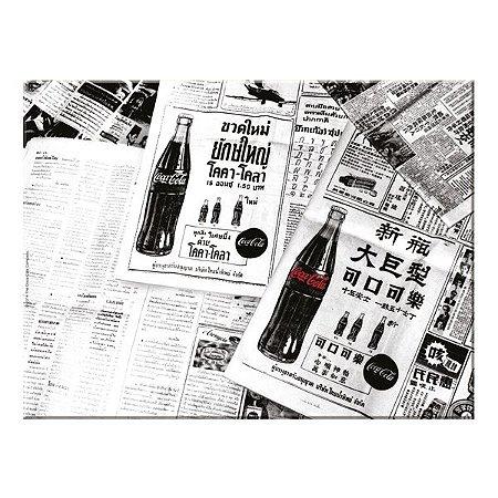 Tábua De Corte Em Vidro Coca Cola Newspaper 20x30cm (26797)