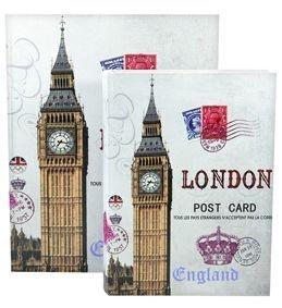 Jogo Caixa Livro Decorativa 2 Peças Estampa London