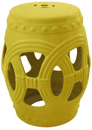 Banqueta Seat Garden em Ceramica Amarelo (18317)