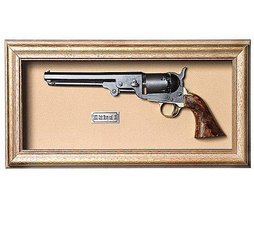 Quadro Réplica da Arma de 1851 Colt Navy Calibre 36