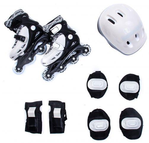 Kit Radical Roller Completo Branco E Preto - M (32-37)  - Bel Sport
