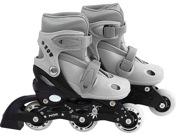 Patins Roller Infantil ROW Mor Cinza P (31-34)