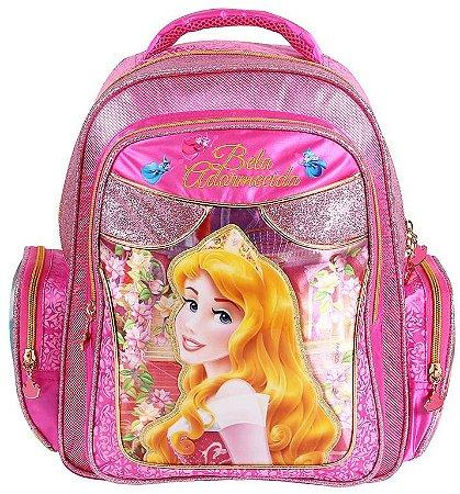 Mochila Escolar Média Com Alça para Costas Princesas Disney Bela Adormecida 60005
