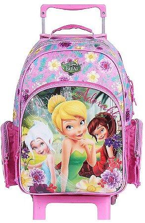 Mochilete Escolar Média de Rodinhas Disney Fadas (60199)