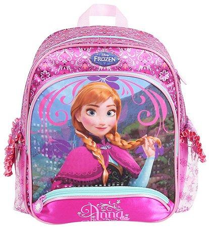 Mochila Escolar Média com Alça Para Costas Disney Frozen Anna (60218)